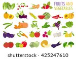 fruits and vegetables.... | Shutterstock .eps vector #425247610
