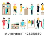 vector shopping and shipping... | Shutterstock .eps vector #425250850