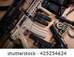 Assault Rifle  Gun  Knife With...