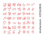 vector icons set isolated on... | Shutterstock .eps vector #425263834
