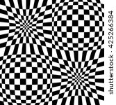 mirrored chequered pattern with ... | Shutterstock . vector #425266384