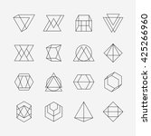 set of geometric signs ... | Shutterstock .eps vector #425266960