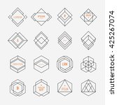 set of geometric signs ... | Shutterstock .eps vector #425267074