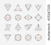 set of geometric signs ... | Shutterstock .eps vector #425267233