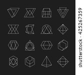 set of geometric signs ... | Shutterstock .eps vector #425267359