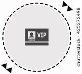 vip badge icon flat design....