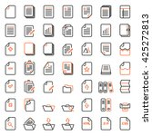 paper icon  document icon... | Shutterstock .eps vector #425272813