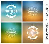 summer holidays retro... | Shutterstock .eps vector #425280010