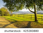 Serene Country Scene  Fence An...