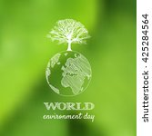 world environment day vector... | Shutterstock .eps vector #425284564