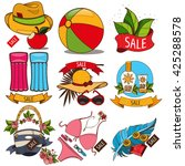 set of illustrations of summer... | Shutterstock .eps vector #425288578
