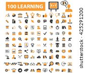 learning icons  | Shutterstock .eps vector #425291200