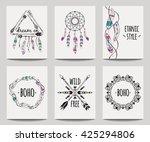 vector set of abstract ethnic... | Shutterstock .eps vector #425294806