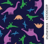 dinosaurs pattern graphic design | Shutterstock .eps vector #425300209