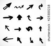 hand drawn arrows  vector set   Shutterstock .eps vector #425300218