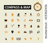 compass map icons  | Shutterstock .eps vector #425302456