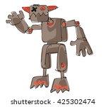 a bit wired cute robot   cartoon