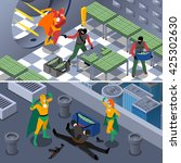 superhero robbery and bank... | Shutterstock .eps vector #425302630