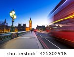 london scenery at westminster... | Shutterstock . vector #425302918