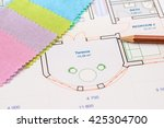 textile palette and... | Shutterstock . vector #425304700