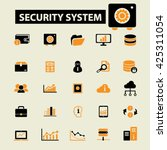 security system icons  | Shutterstock .eps vector #425311054