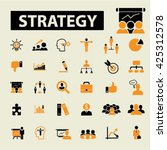 strategy icons  | Shutterstock .eps vector #425312578