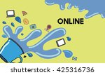 online connection internet web... | Shutterstock . vector #425316736