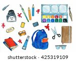selection of various individual ... | Shutterstock . vector #425319109