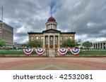 Old State Capitol building in Springfield, Illinois - stock photo
