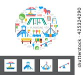 children's playground with... | Shutterstock .eps vector #425324290