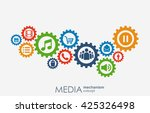 media mechanism concept. growth ... | Shutterstock .eps vector #425326498