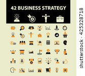 business strategy icons  | Shutterstock .eps vector #425328718