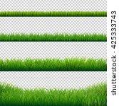green grass borders set | Shutterstock . vector #425333743