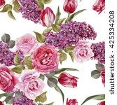 floral seamless pattern with... | Shutterstock . vector #425334208