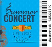 summer concert jazz and blues... | Shutterstock .eps vector #425335540