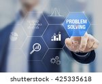 problem solving concept with... | Shutterstock . vector #425335618