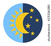 day and night icon. sun moon... | Shutterstock .eps vector #425336380