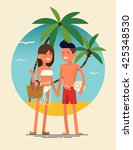 Cool Vector Flat Design Summer...