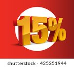15  percent off  sale... | Shutterstock .eps vector #425351944
