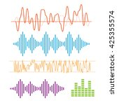 color sound waves. music... | Shutterstock .eps vector #425355574