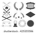 set of baseball design element | Shutterstock .eps vector #425355586