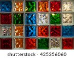 Colorful Glass Blocks Panel Fo...