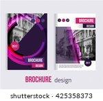 set of vector brochure cover... | Shutterstock .eps vector #425358373