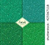 set of emerald sparkles texture ...   Shutterstock .eps vector #425367118