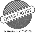 Offer Credit Pencil Strokes...