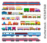 Cartoon Toy Train With Colorfu...
