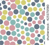 seamless pattern with small... | Shutterstock .eps vector #425370580