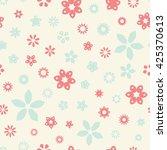 seamless floral pattern. vector ... | Shutterstock .eps vector #425370613