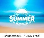summer logotype. design... | Shutterstock .eps vector #425371756