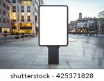 blank mock up of vertical... | Shutterstock . vector #425371828